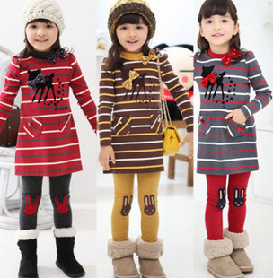 New 2015 baby girls clothing sets children's clothing suits,Outdoor sports suit baby suit, girls striped suit free shipping(China (Mainland))