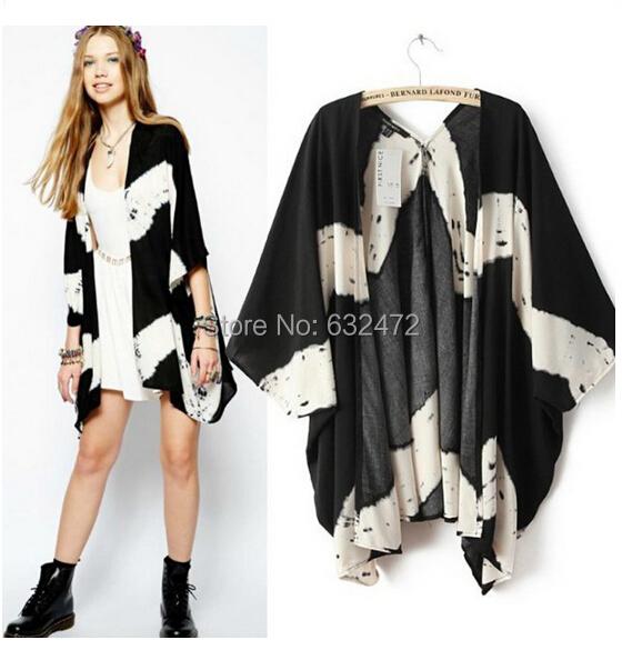 Women's Tops 2015 Fashion Spring - Autumn tie-dye pattern jackets women coats cardigan vestidos Clothing Coco International Trade Store store