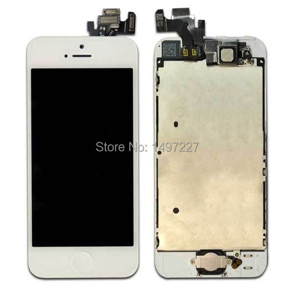 For iphone 5 Full Front LCD Touch Screen Digitizer Assembly With Small parts White