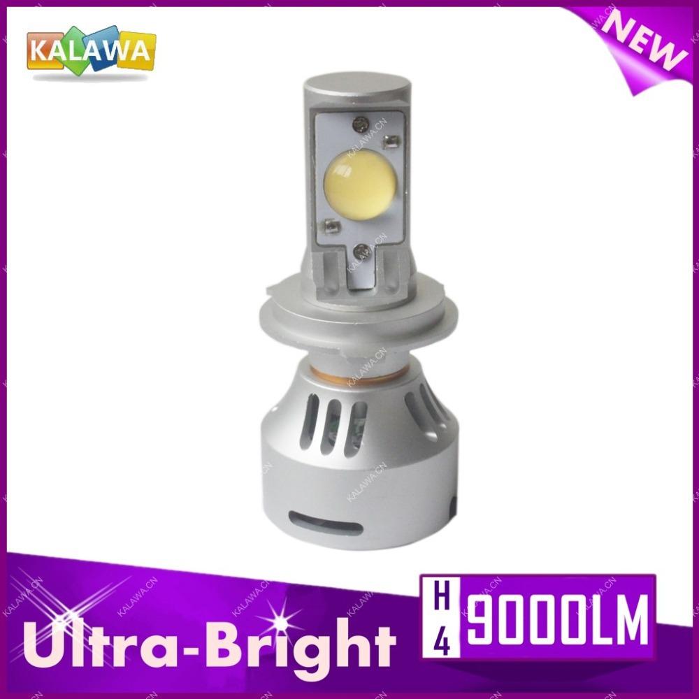 Фотография 9000LM Ultra-Bright 5th Generation H4 H/L 72W CREE LED Auto Headlight kit Hi/lo beam car lights1A Freeshipping GGG