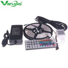 Buy 5050 RGB LED Strip 5M 300 Led SMD 44 Keys IR Remote Controller 12V 6A Power Adapter Supply Flexible Light Diode Tape Ribbon for $14.79 in AliExpress store