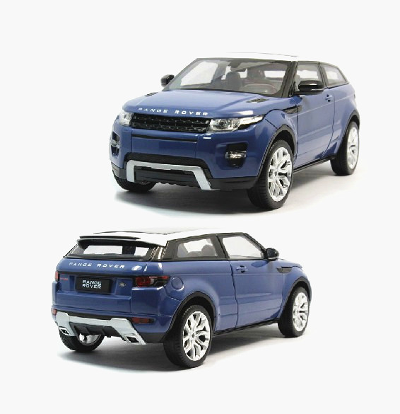 1:24 Welly FX Range Rover Evoque Model Toy Model Diecast Car New Blue(China (Mainland))