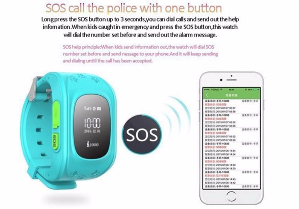 ถูก Android 4.4เด็กsmart watch q50กับsos, gps, pedometerสำหรับเด็กต่อต้านหายไป
