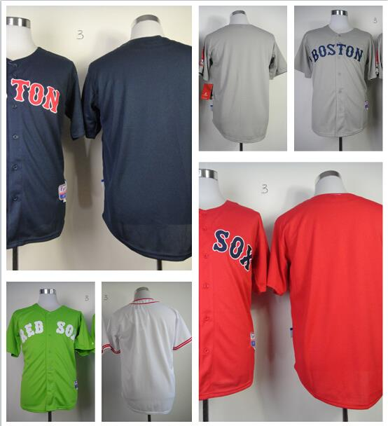 High quality customize,Free shipping Personalized Boston Red Sox Jersey,White/Gray/Red/Blue Baseball Jersey Embroidery 100%(China (Mainland))