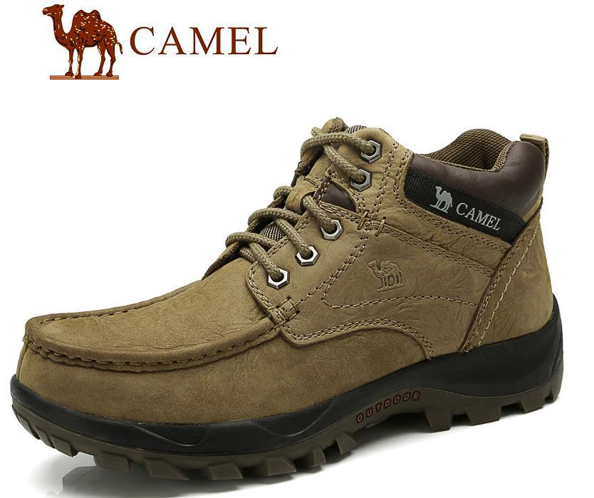 Free shipping new 2015 hot cakes Brand leather Camel shoes comfortable and casual outdoor hiking boots male thermal men's boots