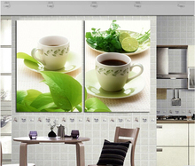Buy Kitchen Decor Wall pictures 3 Panel Art Canvas Black Coffee Tea Green Leaf Modern Realist Pictures Fresh Simple Decoration for $12.75 in AliExpress store