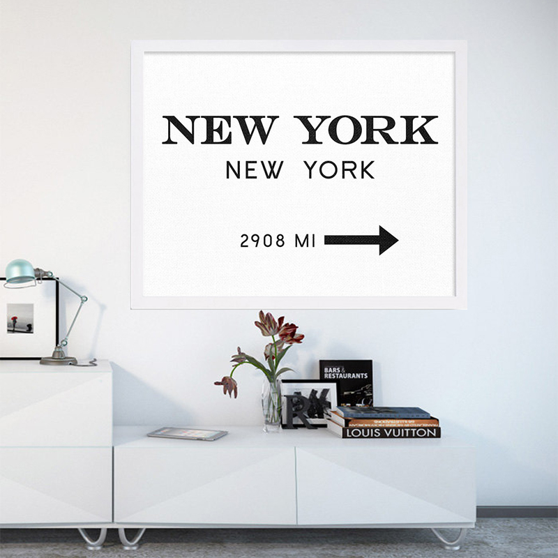 New York City Fashion Art NYC Art Black and White Print Modern Print Art Posters Canvas Art Painting Wall Pictures, No Frame(China (Mainland))