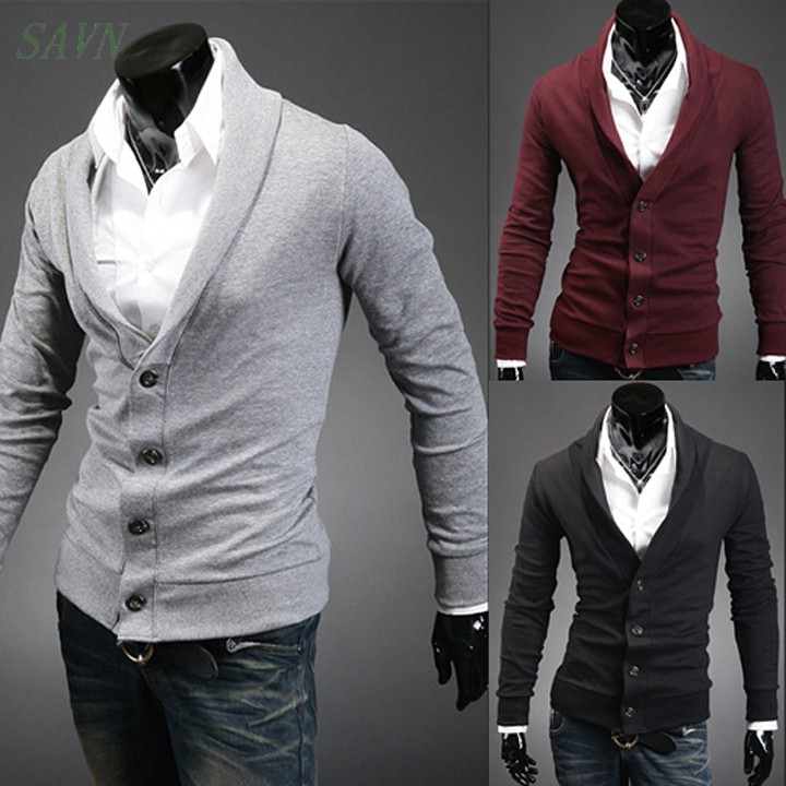 2014 male 100% cotton casual V-neck sweater slim cardigan sweater for men fashion cashmere 5color 4Size Drop shipping(China (Mainland))