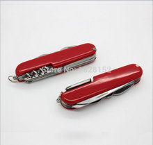 Exterior supervivencia de acero inoxidable 11 en 1 herramienta Multi de los alicates cuchillos compactos portátiles herramienta multifunción sable regalo 11 open knife
