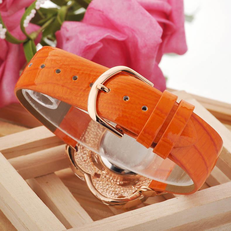 Мелисса Леди Наручные Часы женские Часы Кварцевые Моды Платье Кожаный Браслет Роскошные Конфеты Мороженое Хрустальный Цветок Девушке Подарок