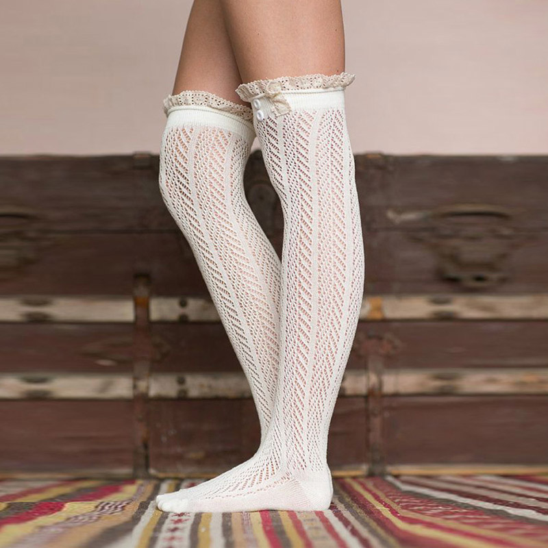 Knitting Pattern Knee High Socks : Online Buy Wholesale knit knee high socks from China knit ...