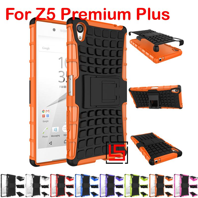 Armor Rugged Hybrid Hard PC TPU ShockProof Phone Case coque capa Cover For Sony Xperia Xpera Z5 Premium Plus Orange White(China (Mainland))