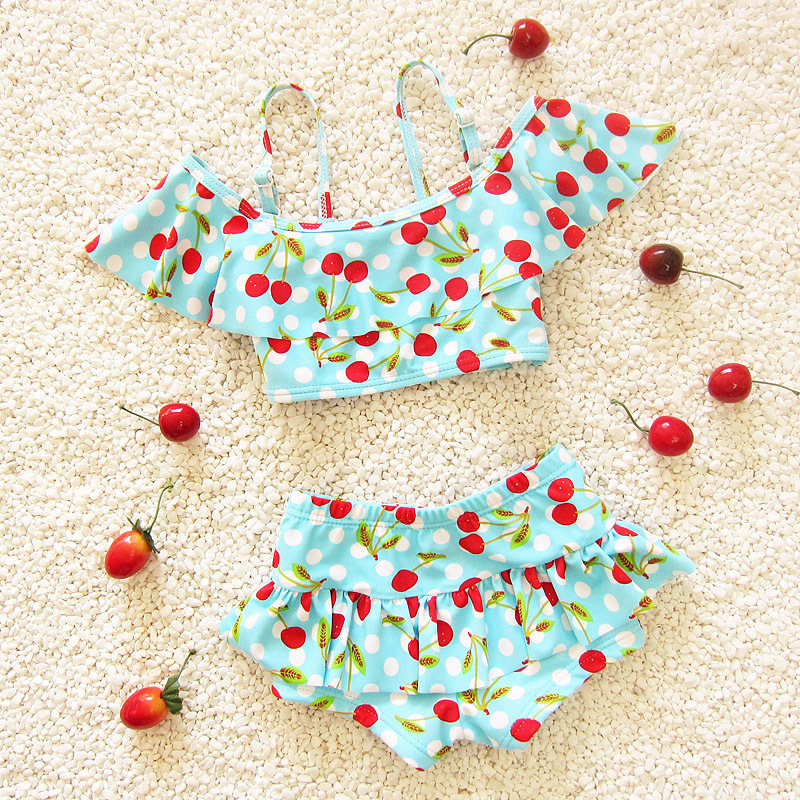2-6 Years Children Swimwear Print Girls Swimwear Baby Kids Biquini Infantil Swimsuits Bikini Girl 2016 Bathing Suit Two Pieces