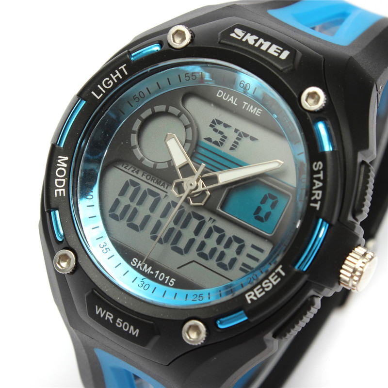 Гаджет  2015 New Brand Skmei Luxury Watches Men Military Sports Watch Digital  Rubber Strap Quartz WristWatch  Relogio Maculino None Часы