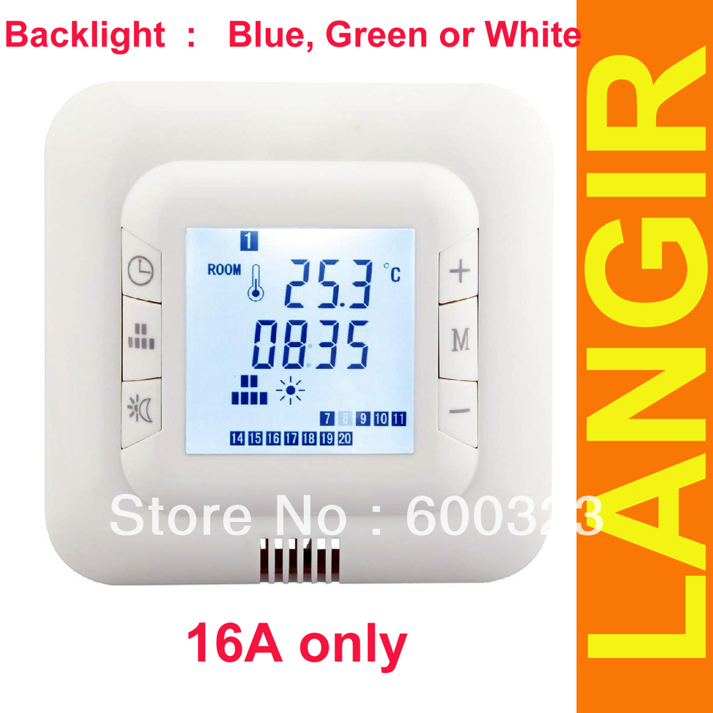 Гаджет  Digital underfloor Heating Thermostat weekly programmable with backlight 16A unit price None Строительство и Недвижимость