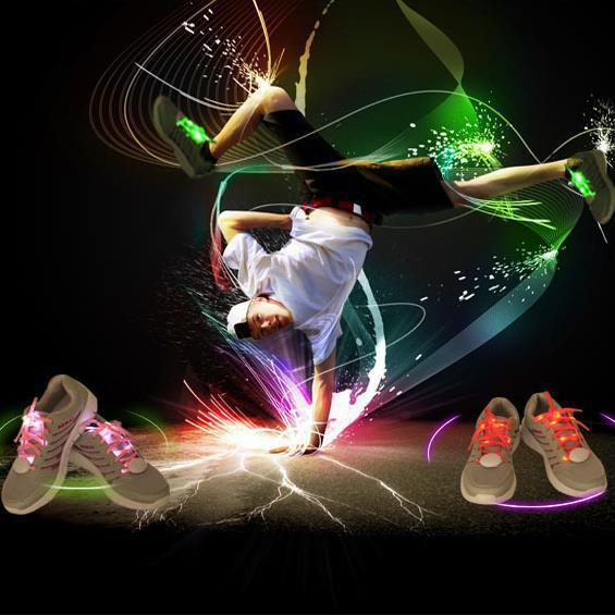 Boys Girls Kids Light Up Luminous LED Shoelaces Flash Party Led round shoelaces Disco Shoe Laces Shoe Strings chaussure led(China (Mainland))