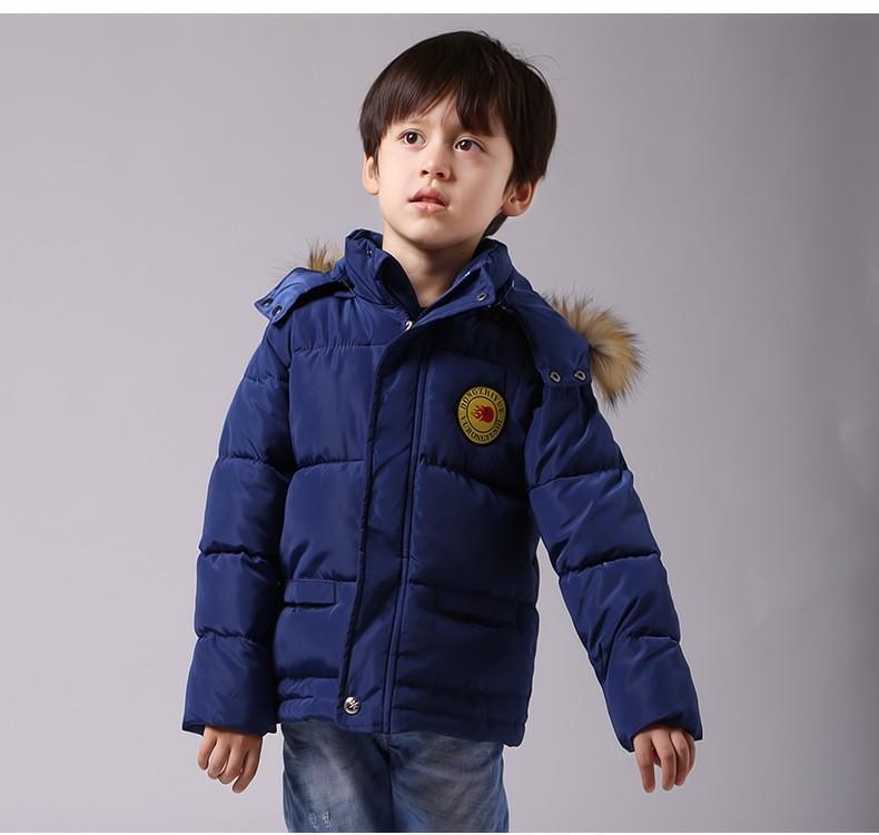 Скидки на 3-10Y дети мальчик зимняя куртка 2016 новый с капюшоном тепловые мальчики верхняя одежда пальто сгустите пуховик дети мальчик одежды снег износ