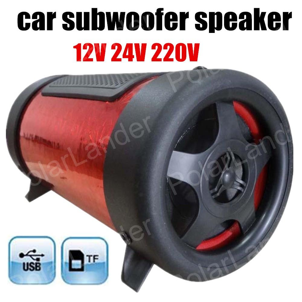 free shipping Super Bass Speaker Mini Subwoofer Car Speaker Portable Speaker for all cars 4 inch 12V 3 colors for option(China (Mainland))