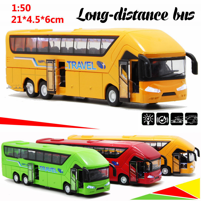 Diecast Metal model,1:50 Alloy pull back Coach Long bus,gift toy cars,alloy Transport Bus car toys,free shipping(China (Mainland))