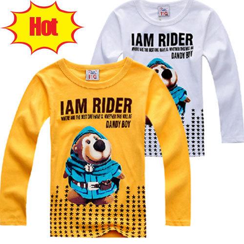 Clearance!   hot selling Children t shirts Boys t-shirt super bear baby kids Boy t-shirts girl shirt outerwear lot free shipping