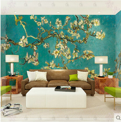 Large Wallpaper Mural Flower 3d Murals Self Adhesive Wall