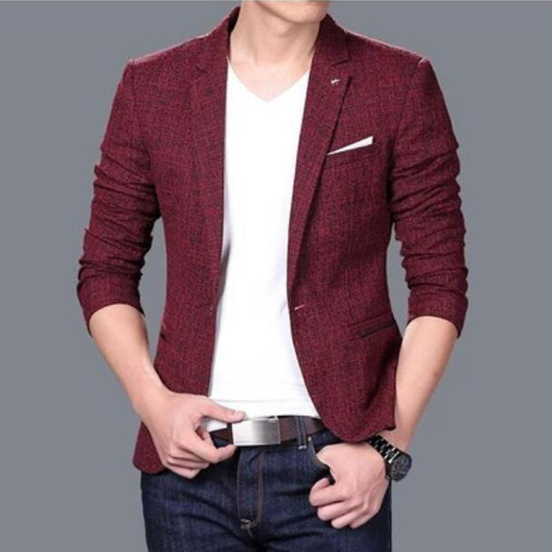 British's Style New Brand Blazer Men Linen Casual Suit Mens Blazers Slim Fit Regular Single Breasted Men Flax Suit Jacket 3XL(China (Mainland))
