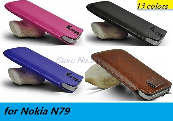 for Nokia N79 Luxury PU Leather Sleeve Bag Pull Tab Pouch Case Cover Cell Phone Accessories case(China (Mainland))