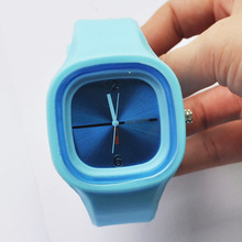 Top Deals Jelly Watch Silicone Wristband Blue(China (Mainland))