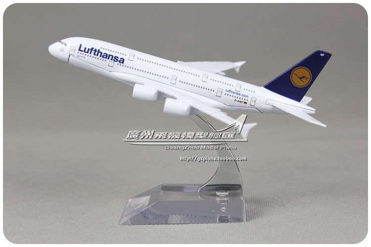 16cm Alloy Metal German Lufthansa Air Airlines Plane Model Airbus A380 D-AIMF Airways Airplane Model Aircraft Mode Toy Gift(China (Mainland))