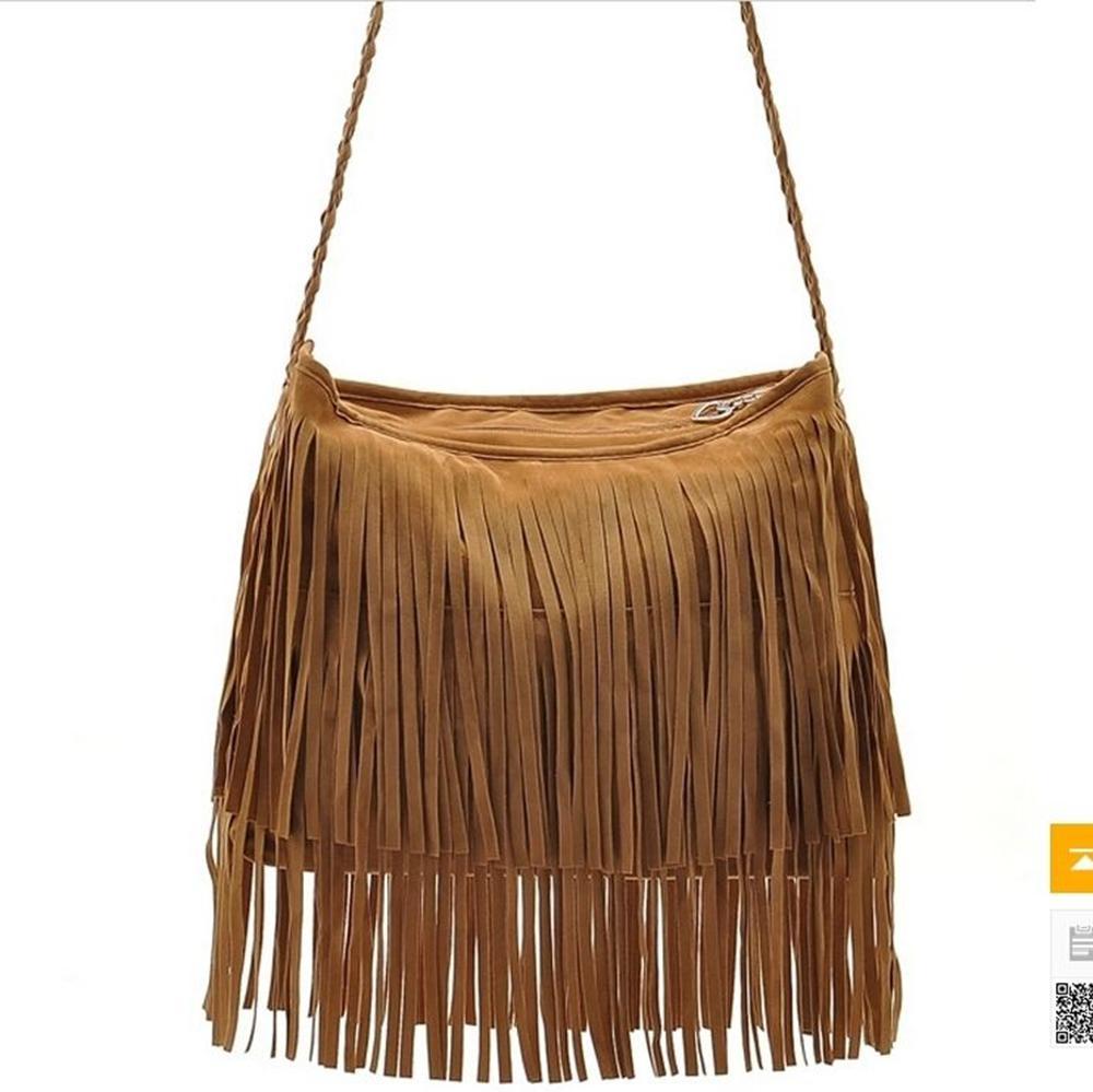 Women Tassels Bags Fashion New Newest Hot Celebrity Tassel Casual Messenger Bags Shoulder Messenger Handbag(China (Mainland))