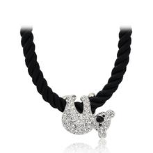 Top Quality Cute koala 18K White/Rose Gold Pated Pendant Necklace Jewelry Austrian Crystal  Wholesale ZYN153  ZYN227(China (Mainland))