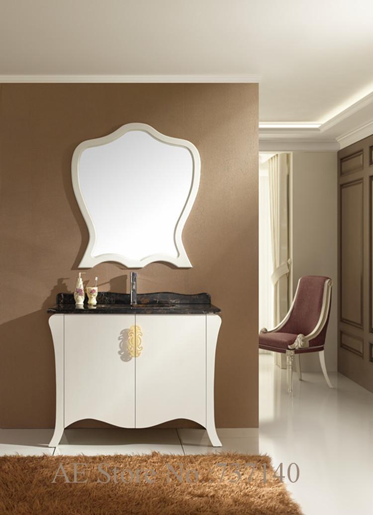 blanco de madera maciza de roble mueble de bao con mrmol natural bao tocador con espejo agente de compra al por mayor precio