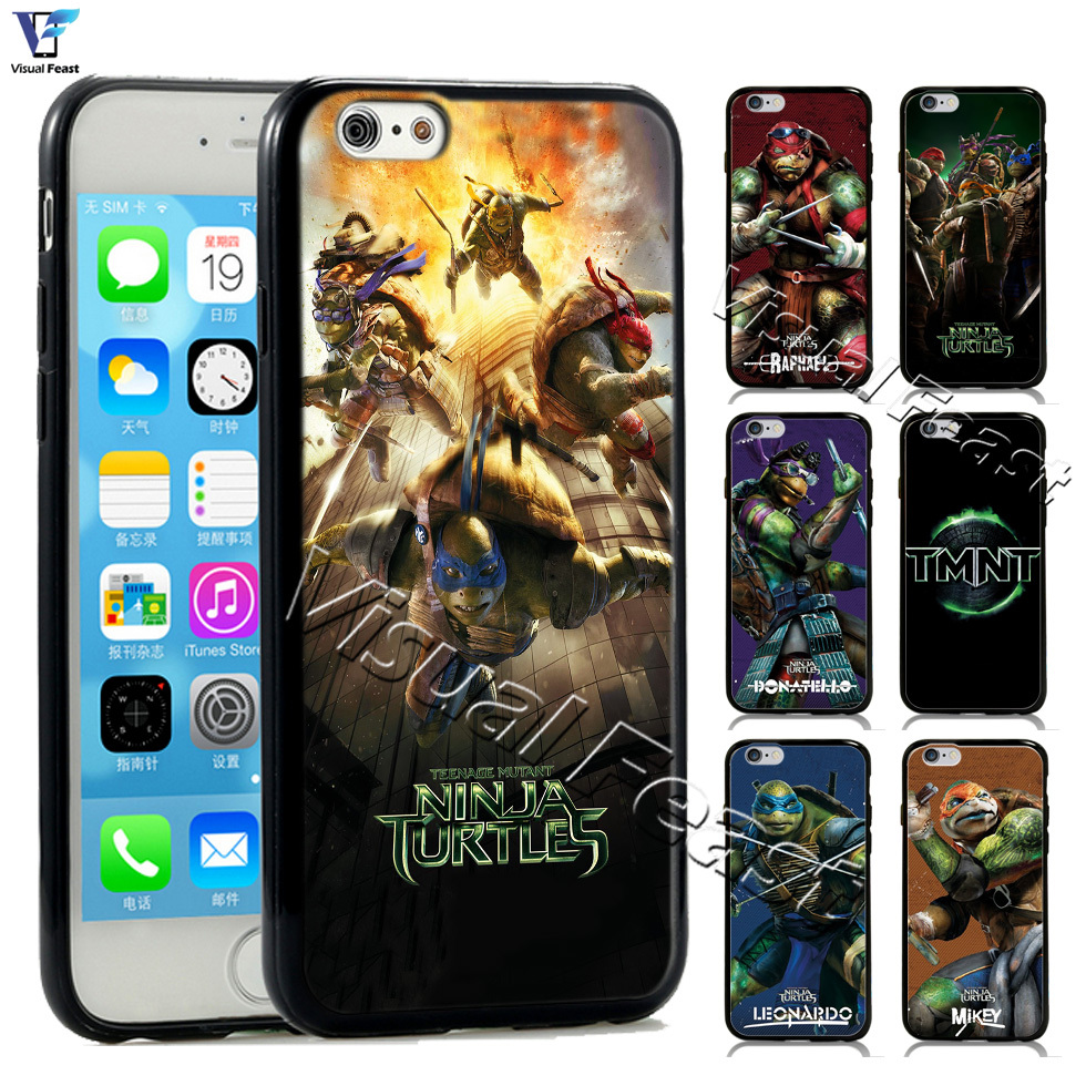 Ninja Turtles Case TPUPC Movie Group Donatello Leonardo TMNT Cover For Iphone 6 6s 4.7 inch Phone Case Retail and wholesale