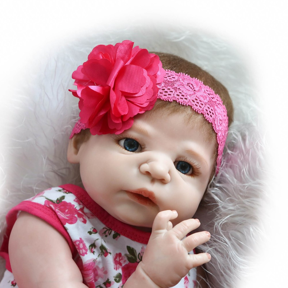 NPK COLLECTION 55cm Full Physique Silicone Reborn Child Doll Toys Lifelike Full Vinyl  New child Woman Infants Brithday Present Bathe Toy