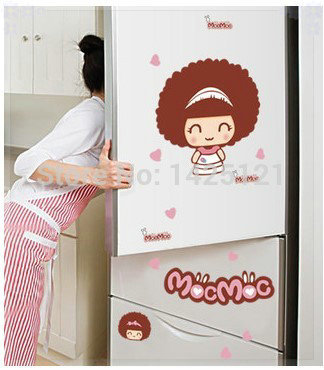 Free shipping super lovely saw doll cartoon wall stickers refrigerator stickers waterproof car stickers 3d board wall(China (Mainland))