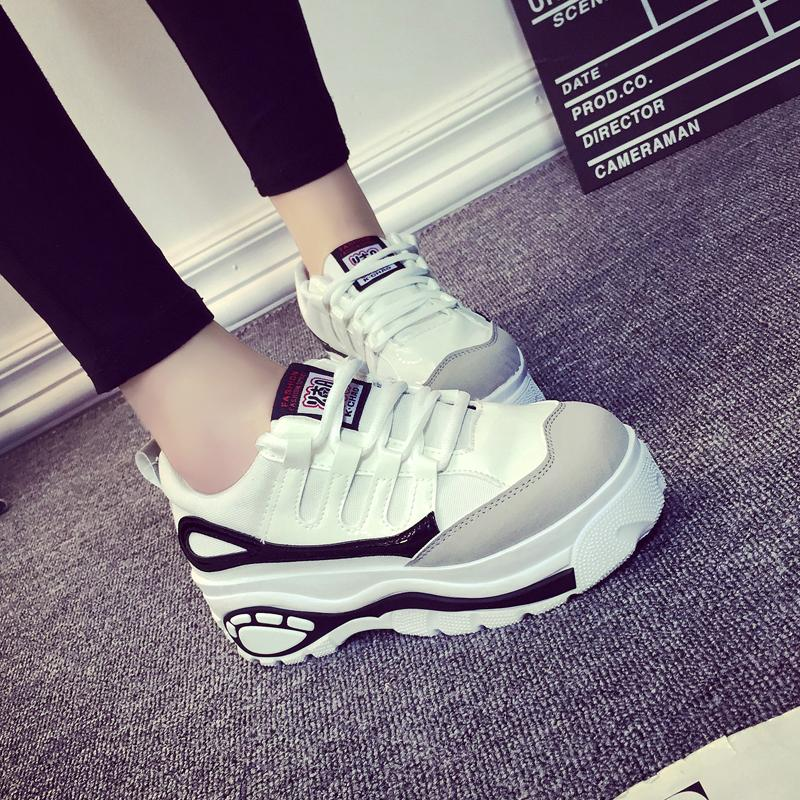2015 Hot Style Muffin Thick Soled Sneakers High Help Women Platfrom Shoes Casual Elevator Shoes Woman Wedges Zapatos Mujer<br><br>Aliexpress
