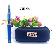 EGO CE5 case kit  Electronic Cigarette  ce5 atomizer EGO-T battery 650mah 900mah 1100mah with zipper case  ego ce5 clearomizer