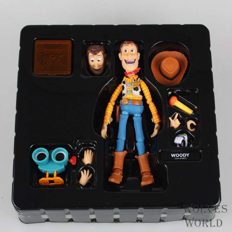 Free shipping Toy Story Woody Series NO.010 Sci-Fi Revoltech Special PVC Action Figure Collectible Toy Regalos de Navidad(China (Mainland))