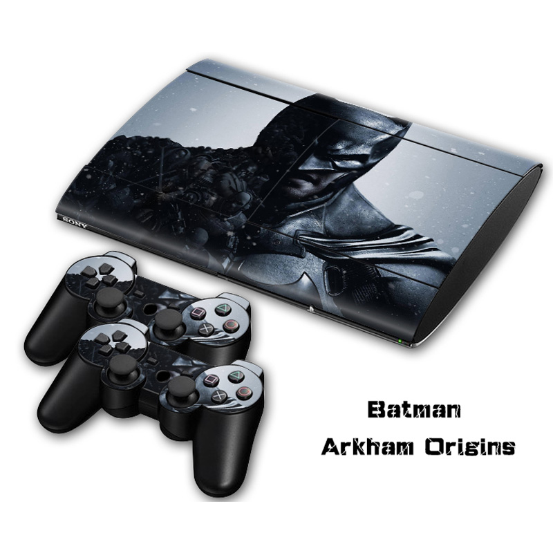 Batman vinyl skin sticker for Sony ps3 super slim 4000 protective decal for ps3 console for controle ps3 skin for play station(China (Mainland))