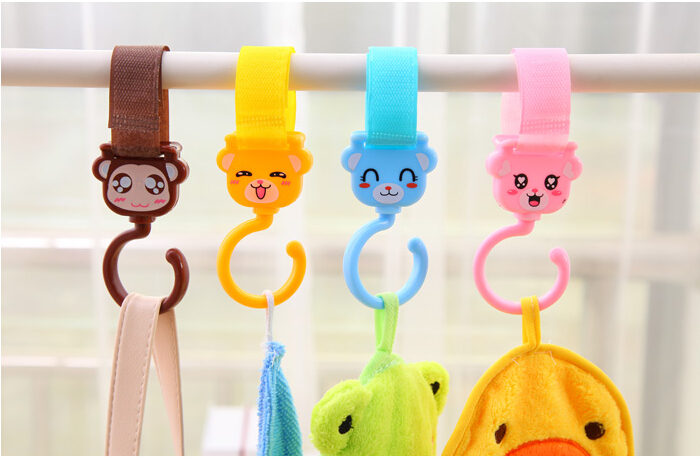 Cute animal shapes Versatile velcro hook Rotatable 360 degrees Clothes hook