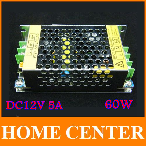 AC 100 240V to DC 12V 5A adapter charger Power Supply Adapter for Led Strips Lights