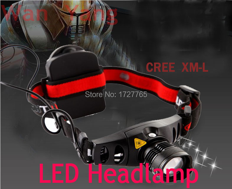 Гаджет  800 lm HeadLight red indicator light flashlight for camp with Battery Holder free shipping  None Свет и освещение