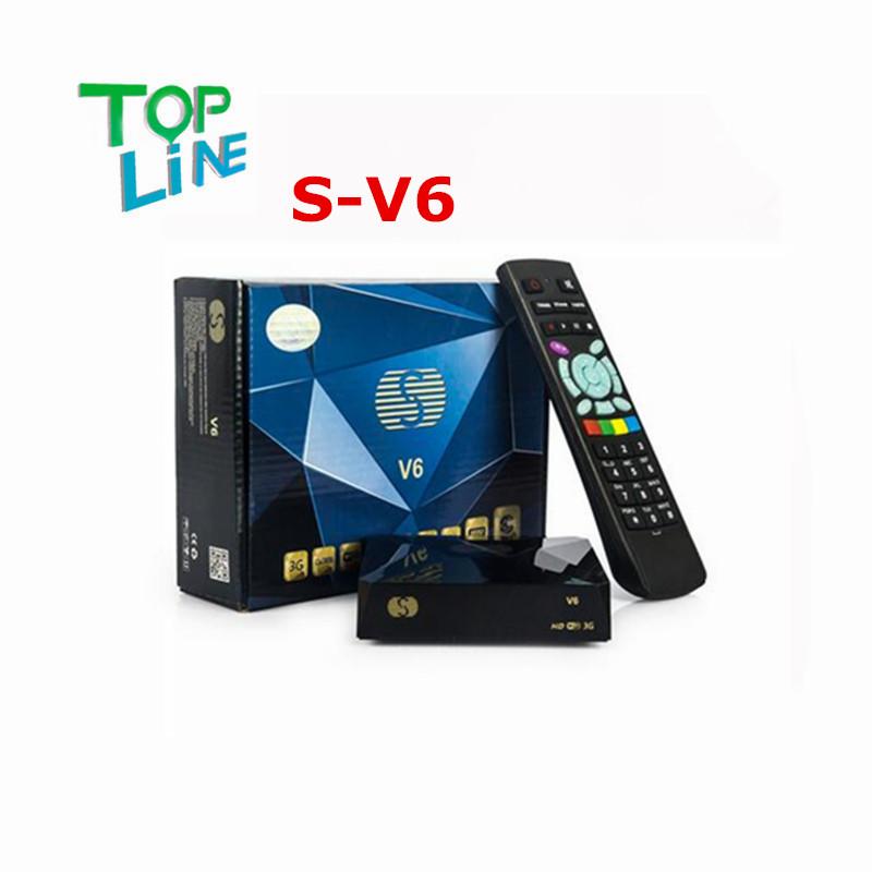 ANEWKODI Original S-V6 Mini HD Satellite Receiver V6 S Support CCCAMD Newcamd WEB TV USB Wifi 3G Biss Key Youporn Free Shiping(China (Mainland))