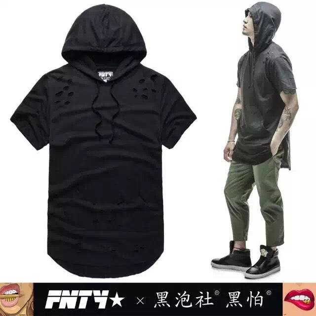 Summer Hip Hop Men Hoodies Fashion Hba Hole Kanye West Style Short Sleeve Sport Hoody bape Streetwear hoodie 5 Colors(China (Mainland))