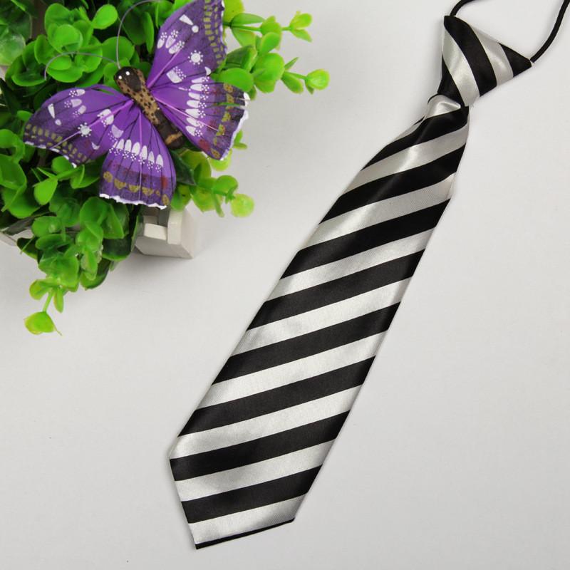 Супер дешевый дети мультфильм галстук новый господа прохладный милый ребенок шеи галстук красочные полосы студент маленькие точки полиэстер шелковый галстук