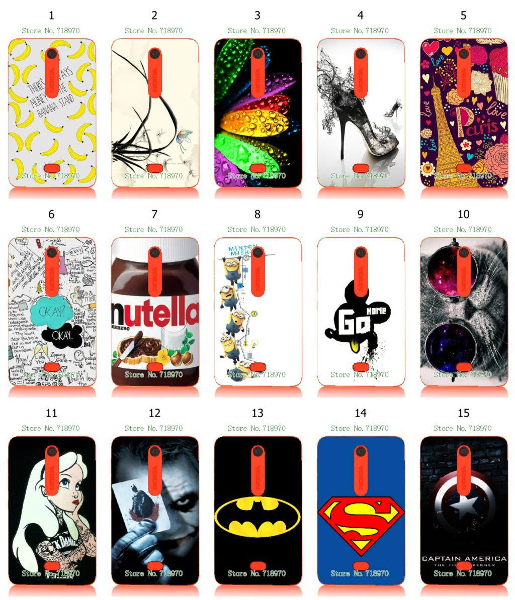 hybrid retail flowers colorful superhero 15designs new arrival white hard mobile phone bags & cases for Nokia Asha 501 free ship(China (Mainland))