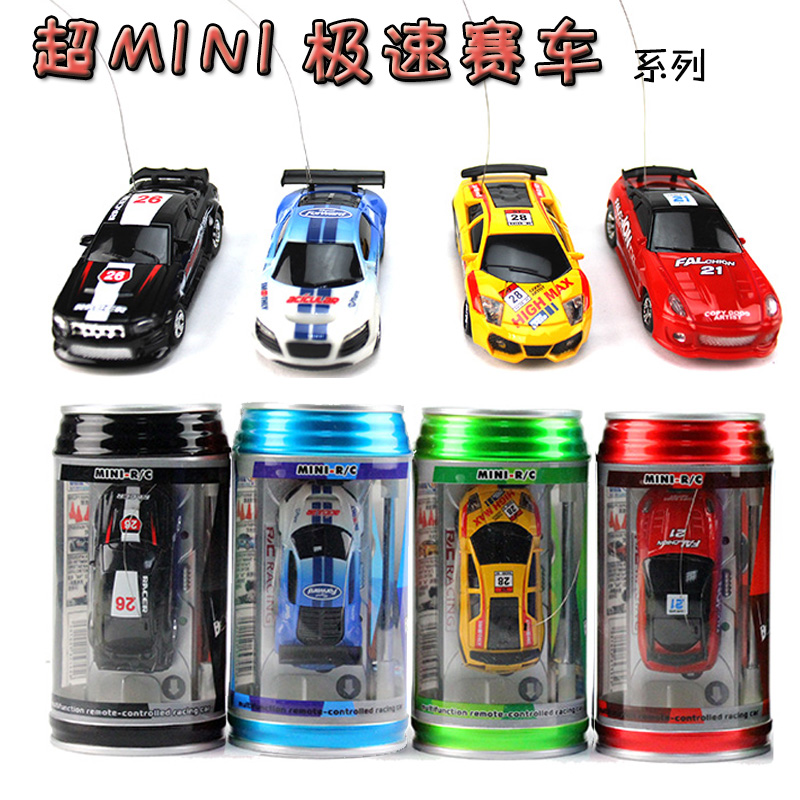 2014 New Gift Coke Can Mini Speed RC Radio Remote Control Micro Racing Car Toy Gifts Electric toy RC Car Children Toys Party9803