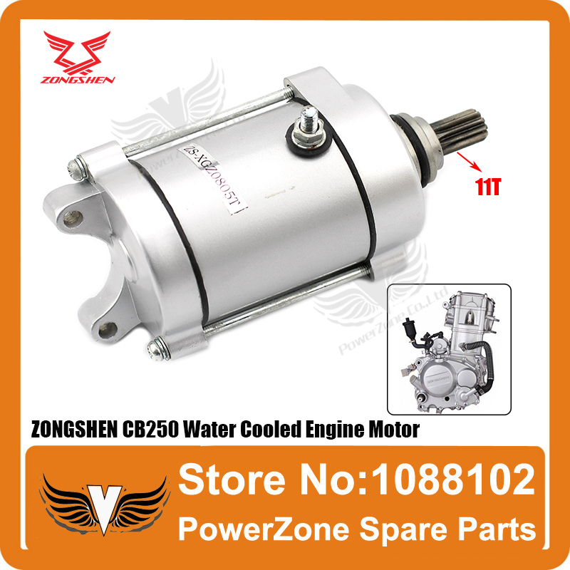 ZONGSHEN CB250 250cc Water Cooled Cooling Engine Start Starter Motor Fit Most Motorcycle Dirtbike ATV Quad Parts Free Shipping(China (Mainland))