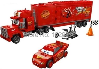 Free shipping Bela 10017 PIXAR Cars Mack's Team Truck Building Block Sets Toys & Educational Toys Bricks baby toys(China (Mainland))