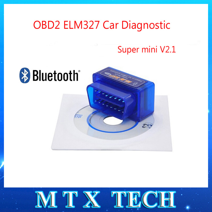 2015 Newest ELM327 Bluetooth OBD2 Scanner V2.1 Interface Works On Android Torque Elm 327 Bluetooth OBDII Car Diagnostic Scanner(China (Mainland))